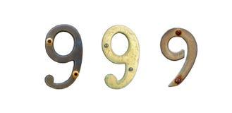 Vieux signes de numéro de maison Image libre de droits