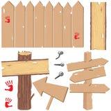 vieux signes neufs en bois Photos stock