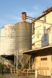 Vieux silo rouillé Photos stock