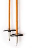 vieux ski de pôles Photo libre de droits