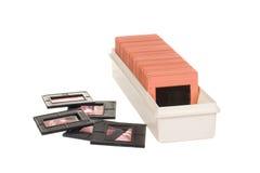 Vieux slidebox avec des glissières Images libres de droits