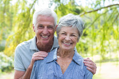 Vieux sourire heureux de couples Photographie stock