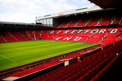 Vieux stade de Trafford Photographie stock libre de droits