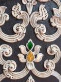 Vieux stuc dans le style thaïlandais de modèle Images stock