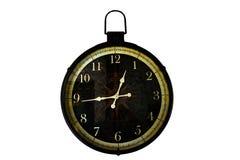 Vieux style de cru d'horloge sur le fond blanc images stock