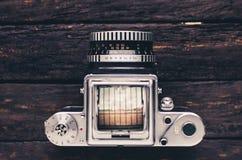 Vieux style moyen d'art déco d'appareil-photo de film de format image libre de droits