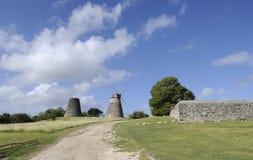 Vieux Sugar Plantation sur une île Photo stock