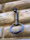 Vieux support de torche et anneau s'accrochant, Florence, Italie Image libre de droits
