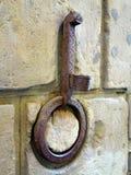 Vieux support de torche et anneau s'accrochant, Florence, Italie photographie stock