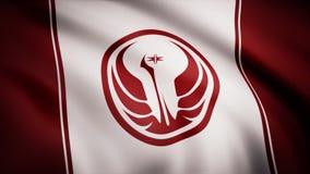 Vieux symbole de République de Star Wars sur le drapeau Le thème de Guerres des Étoiles Utilisation d'éditorial seulement illustration stock