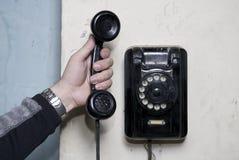 Vieux téléphone Images libres de droits