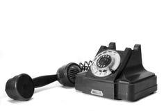 Vieux téléphone avec leur combiné téléphonique Photos libres de droits