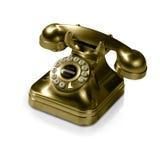 vieux téléphone d'or   Photo libre de droits