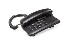 Vieux téléphone d'appareil de bureau de bureau Images stock