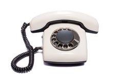 Vieux téléphone d'isolement photos stock