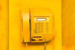 Vieux téléphone de rue Photo libre de droits