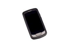 Vieux téléphone intelligent d'écran tactile d'isolement sur le blanc Image stock