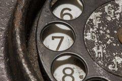 Vieux téléphone noir Images stock