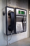 Vieux téléphone public Images libres de droits
