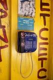 Vieux téléphone public Image libre de droits