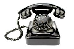 Vieux téléphone rotatoire image libre de droits