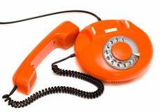 Vieux téléphone rouge Photographie stock libre de droits