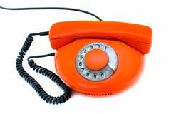 Vieux téléphone rouge Photos libres de droits