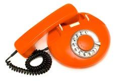 Vieux téléphone rouge Photo libre de droits