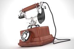Vieux téléphone (taille de XXL) Image stock
