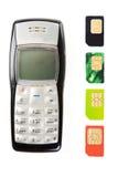 Vieux téléphones portables Photographie stock libre de droits