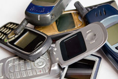 Vieux téléphones portables photos stock