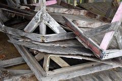 Vieux Tableaux cassés de marché aux puces photos libres de droits