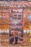 Vieux tableaux peints à la brique Image stock