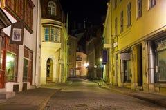 Vieux Tallinn la nuit Photo libre de droits