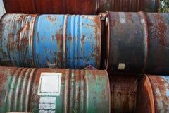 Vieux tambours inutilisés Photographie stock libre de droits