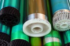 Vieux tambours photosensibles des imprimantes à laser et des copieurs images stock
