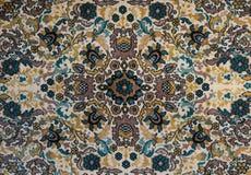Vieux tapis avec le modèle Vue supérieure Image libre de droits