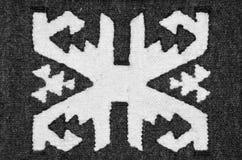 Vieux tapis roumain traditionnel de laine Photos stock
