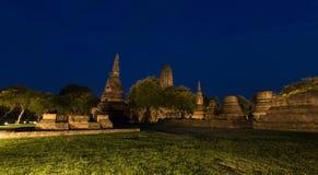 Vieux temple à ayutthaya, Thaïlande Concept de point de repère photos libres de droits