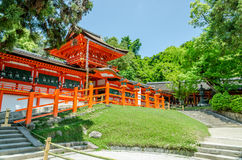 Vieux temple au Japon Photographie stock