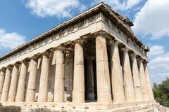 Vieux temple d'Athènes Image stock