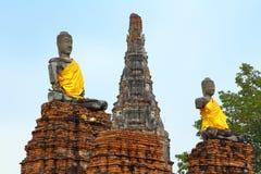 Vieux temple d'Ayuthaya Photo stock