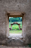 Vieux temple de Wang Wiwekaram le temple sous-marin Photographie stock