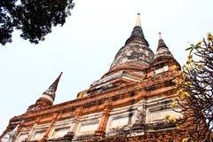 Vieux temple ruiné d'Ayutthaya, Thaïlande, Photo stock