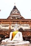 Vieux temple ruiné d'Ayutthaya, Thaïlande, Image libre de droits