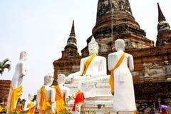 Vieux temple ruiné d'Ayutthaya, Thaïlande, Photos stock
