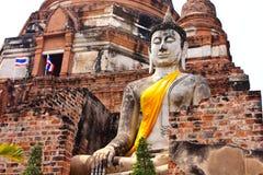 Vieux temple ruiné d'Ayutthaya, Thaïlande, Photos libres de droits