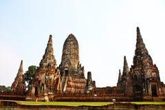 Vieux temple ruiné d'Ayutthaya, Thaïlande, Image stock