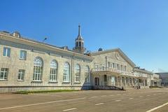 Vieux terminal d'aéroport de Koltsovo à Yekaterinburg Photographie stock