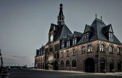 Vieux terminal de train à Jersey City photographie stock libre de droits